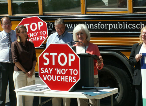 Say NO to vouchers
